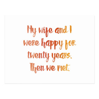 Wife Quote Postcard