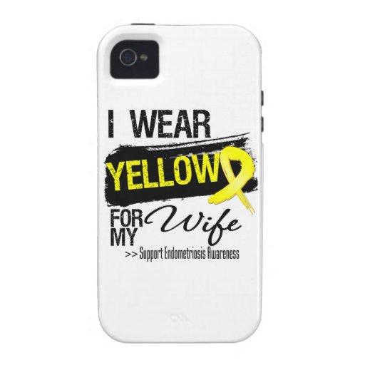 Wife Yellow Ribbon Endometriosis iPhone 4 Cases