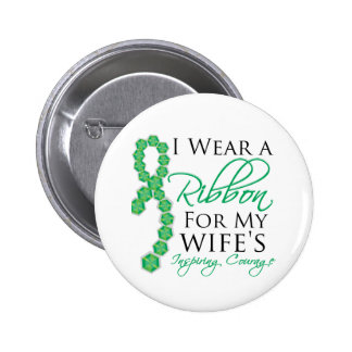 Wife's Inspiring Courage - Liver Cancer 6 Cm Round Badge