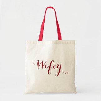 Wifey Dark Red Typographical Text Design
