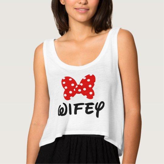 Wifey Minnie Women's flowy crop top
