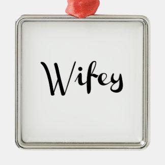 Wifey - Newlywed Funny Ornament