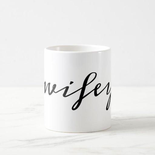 Wifey script coffee mug