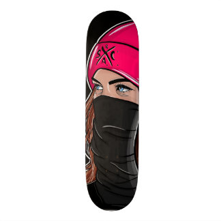 """Wifey"" skateboard deck black"