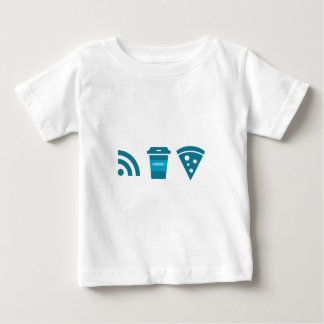 Wifi-Coffee-Pizza Baby T-Shirt