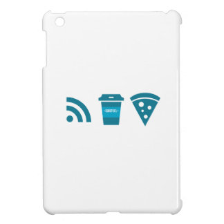 Wifi-Coffee-Pizza iPad Mini Covers