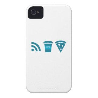 Wifi-Coffee-Pizza iPhone 4 Covers