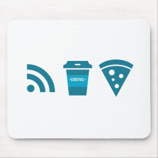 Wifi-Coffee-Pizza Mouse Pad