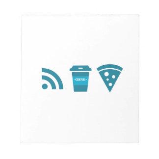 Wifi-Coffee-Pizza Notepad