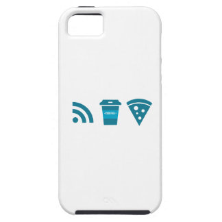 Wifi-Coffee-Pizza Tough iPhone 5 Case