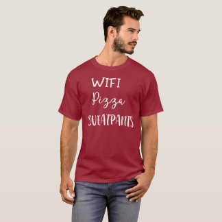 WIFI, Pizza, Sweatpants T-Shirt