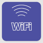 WiFi Sign Square Sticker