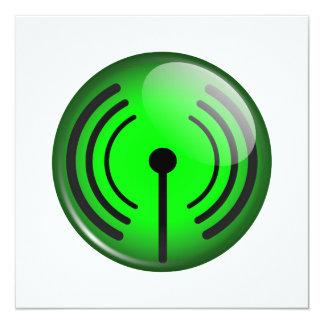WiFi Symbol 13 Cm X 13 Cm Square Invitation Card