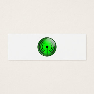 WiFi Symbol Mini Business Card
