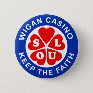 Wigan Casino Keep The Faith 6 Cm Round Badge