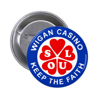 Wigan Casino Keep The Faith 6 Cm Round Badge