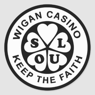 Wigan Casino Keep The Faith Classic Round Sticker