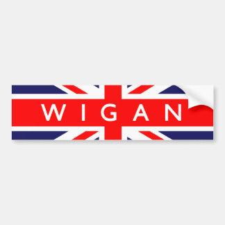 Wigan UK Flag Bumper Sticker