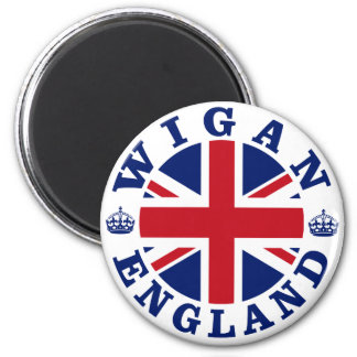Wigan Vintage UK Design 6 Cm Round Magnet