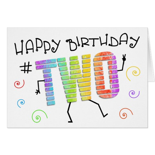 Wiggle n Giggle Fun 2nd Birthday Greeting Card