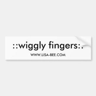 ::wiggly fingers::, WWW.LISA-BEE.COM Bumper Sticker