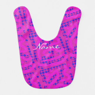 wiggly pink/ blue polka dots Thunder_Cove Bib