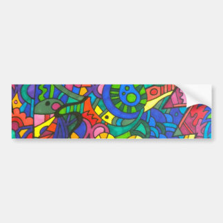 Wiggly yellow worm bumper sticker