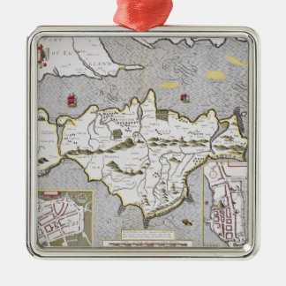 Wight Island, engraved by Jodocus Hondius Christmas Ornament