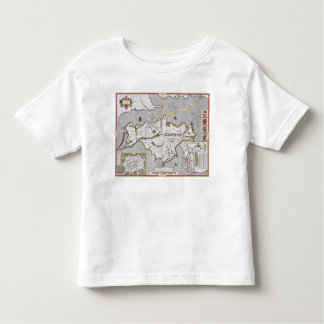 Wight Island, engraved by Jodocus Hondius Toddler T-Shirt