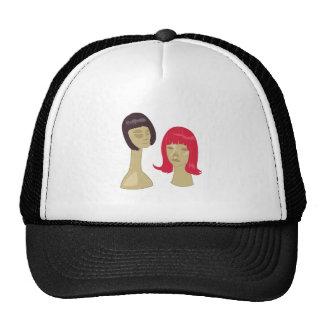 Wigs On Stands Trucker Hats