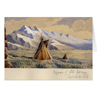 Wigwam of Ute Indians, Salt Lake City Greeting Card