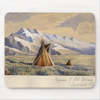 Wigwam of Ute Indians, Salt Lake City Mouse Mat