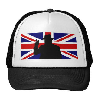 Wiinston Churchill British bulldog Cap