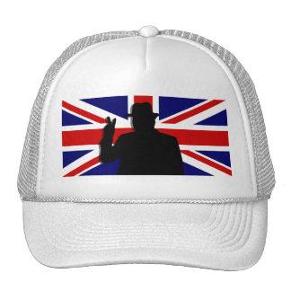 Wiinston Churchill British bulldog Mesh Hat