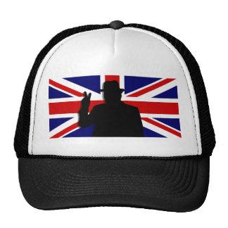 Wiinston Churchill British bulldog Trucker Hats