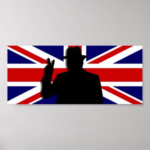 Wiinston Churchill British bulldog Poster