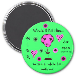 WIKH Ser#100 WHERE'S THE AFFECTION! 7.5 Cm Round Magnet