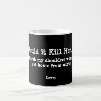 WIKHer Ser#03 Rub My Shoulders! Basic White Mug