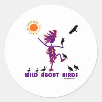 Wild About Birds Round Stickers