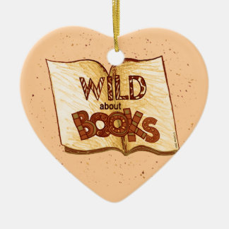Wild About Books Reading Heart Ornament