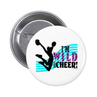Wild About Cheer 6 Cm Round Badge