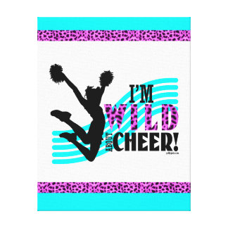 Wild About Cheer Stretched Canvas Prints