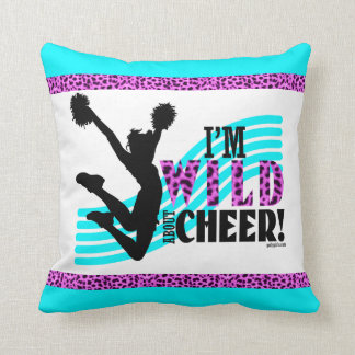 Wild About Cheer (with border) Throw Cushions