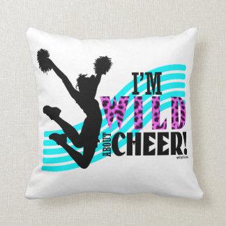 Wild About Cheer (without border) Throw Cushions