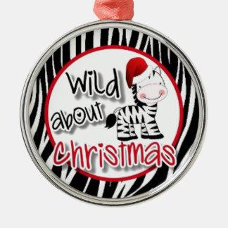 Wild about Christmas Zebra Christmas Ornament