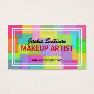 Wild About Color Makeup Artist Business Cards