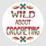 Wild About Crocheting Stickers