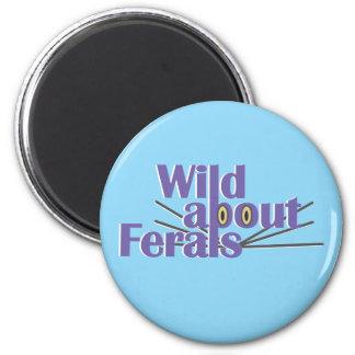 Wild about Ferals Refrigerator Magnets