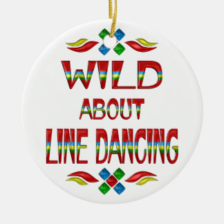 Wild About Line Dancing Christmas Ornament