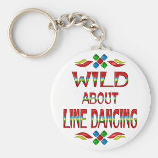 Wild About Line Dancing Key Ring
